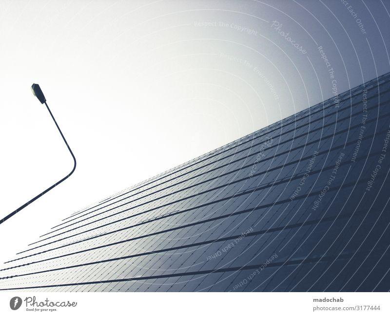 Perspektivwechsel Stadt Haus Einsamkeit Ferne Architektur Stil Business Gebäude Fassade Zufriedenheit modern Hochhaus elegant Ordnung ästhetisch Idylle