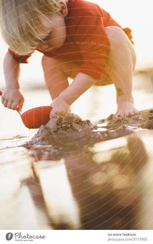 dig, dag, digedag Freizeit & Hobby Spielen Kind Kleinkind Kindheit Leben Wellen Küste Strand nah nass Wärme Ausdauer Natur Tourismus Ferien & Urlaub & Reisen