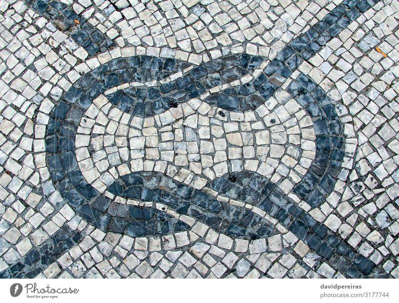 Stein blockiert Pflastertextur für den Hintergrund Design Tapete Felsen Architektur Straße Wege & Pfade alt dunkel grau schwarz Tradition Allee Klotz zentral