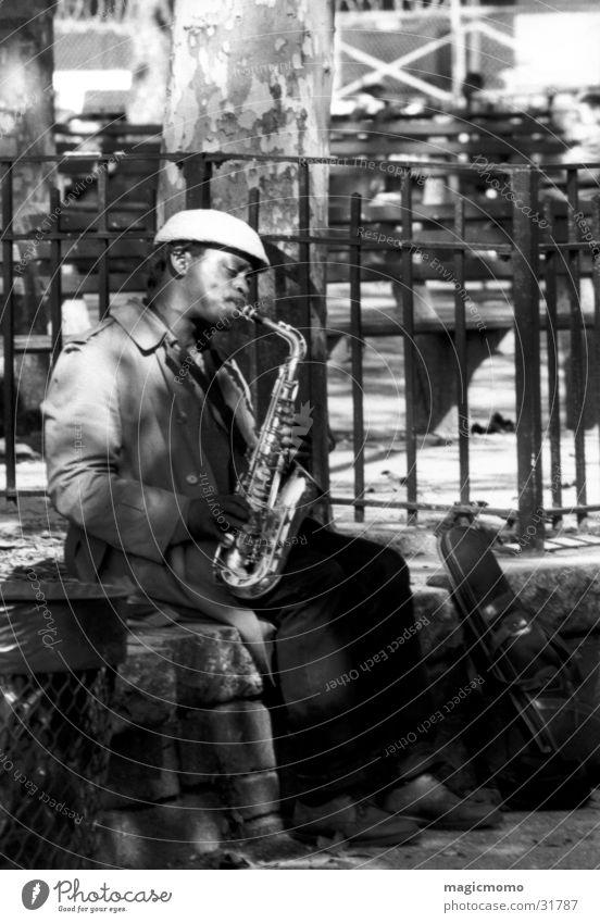Saxman Mann Musik New York City Musiker Saxophon