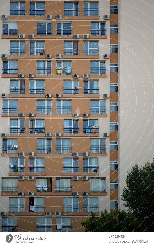 MaMaIa. I Ferien & Urlaub & Reisen Tourismus Häusliches Leben Wohnung Rumänien mamaia Hochhaus Architektur Fassade schlafen hässlich Farbe bettenburg