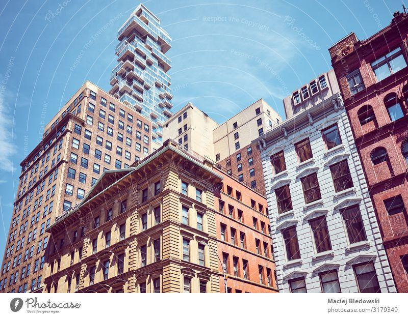 New York City vielfältige Architektur. Ferien & Urlaub & Reisen Sightseeing Städtereise Häusliches Leben Wohnung Haus Himmel Stadt Stadtzentrum Gebäude Mauer