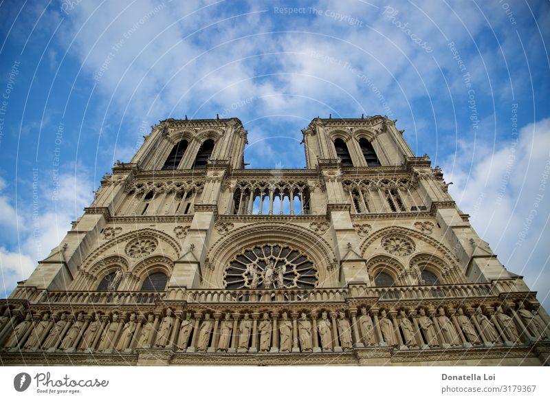 Kathedrale Notre-Dame de Paris Himmel Kirche Dom Gebäude Architektur historisch schön einzigartig Perspektive Ferien & Urlaub & Reisen Religion & Glaube