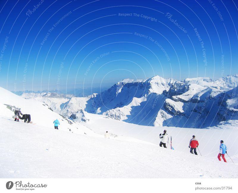 Gletscher Winter Schnee Berge u. Gebirge Skifahren Schweiz Flims