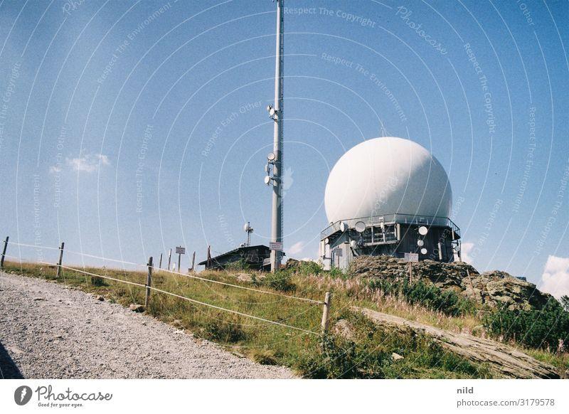 Großer Arber Natur Sommer Landschaft Berge u. Gebirge Architektur Technik & Technologie Schönes Wetter Gipfel Bauwerk Überwachung Antenne Radarstation