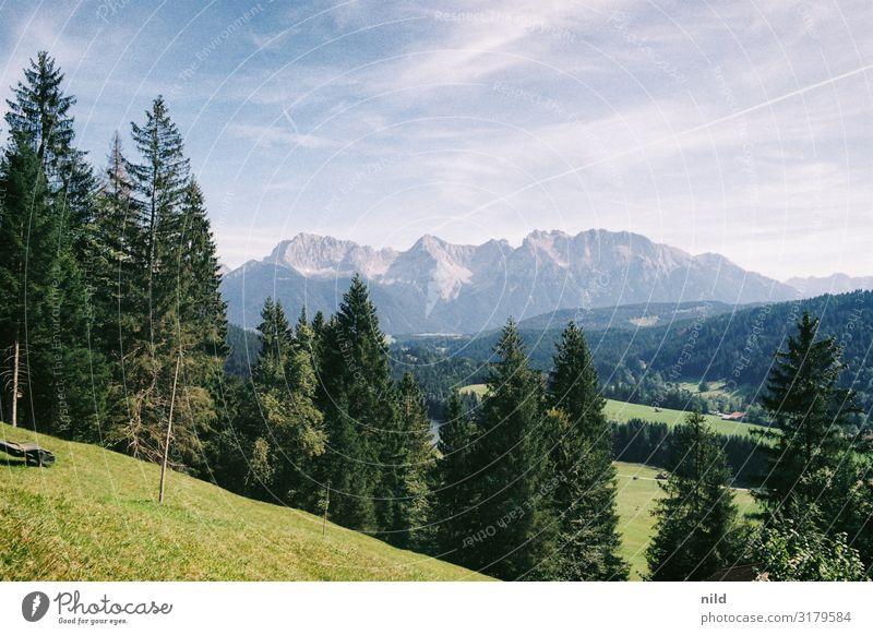 Karwendelblick Freizeit & Hobby Ferien & Urlaub & Reisen Tourismus Ausflug Sommerurlaub Berge u. Gebirge wandern Umwelt Natur Landschaft Pflanze Schönes Wetter