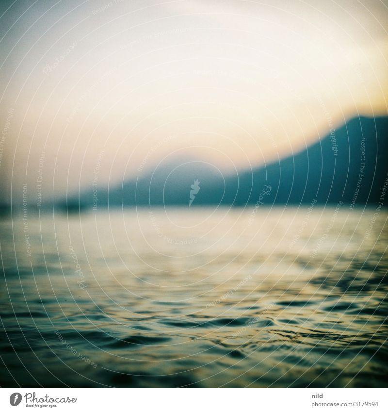 Lago di Garda Ferien & Urlaub & Reisen Tourismus Ferne Sommerurlaub Strand Wellen Umwelt Natur Landschaft Horizont Sonnenaufgang Sonnenuntergang Schönes Wetter