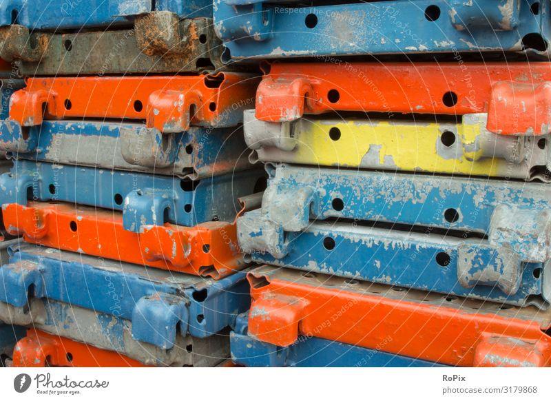 Muster der Gerüstausrüstung. Lifestyle Design Wissenschaften Arbeit & Erwerbstätigkeit Beruf Arbeitsplatz Fabrik Wirtschaft Industrie Handel Baustelle Business