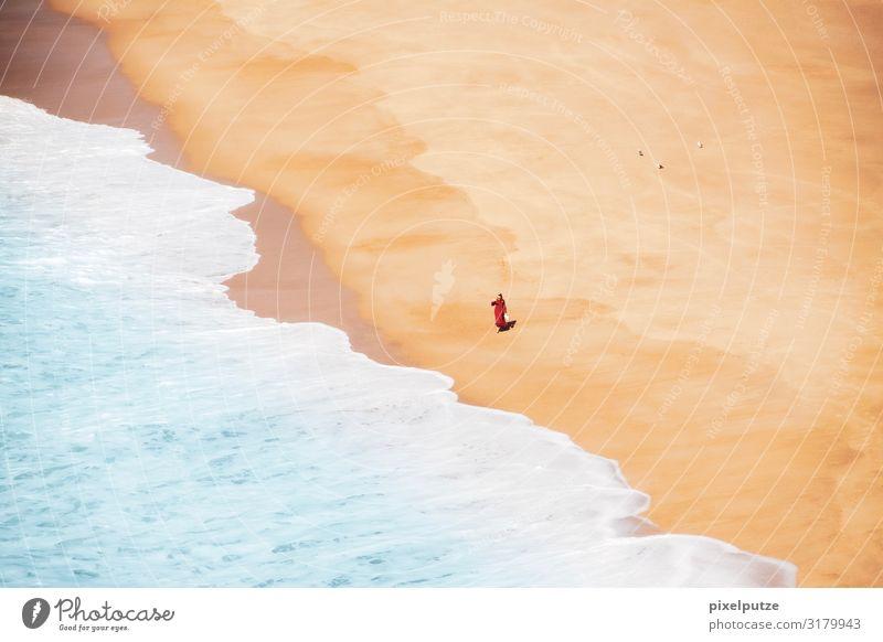 Gestrandet Ferne Freiheit Sommer Sommerurlaub Strand Meer Insel feminin Junge Frau Jugendliche Erwachsene 1 Mensch 18-30 Jahre Natur Landschaft Sand Wasser