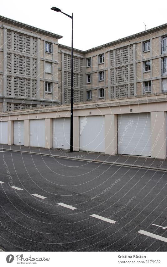 le havre architektur Stadt Haus Architektur Gebäude Fassade grau Beton Hafenstadt Garage Weltkulturerbe Le Havre