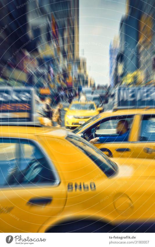Yellow Traffic Jam, Times Square New York City USA Stadt Stadtzentrum überbevölkert Haus Platz Gebäude Architektur Sehenswürdigkeit Wahrzeichen Verkehr