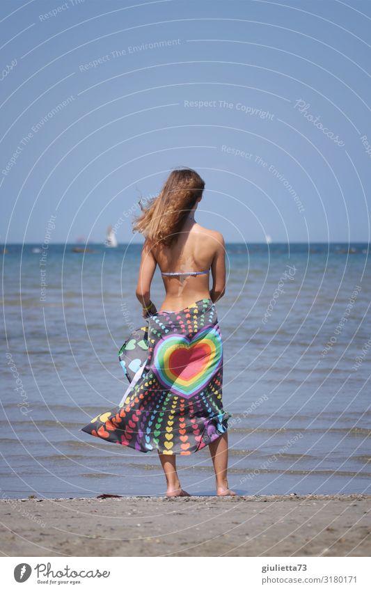 Hau(p)tsache | Liebe Mensch Ferien & Urlaub & Reisen Jugendliche Junge Frau Sommer schön Meer Strand Leben feminin Freiheit 13-18 Jahre Sex Schönes Wetter