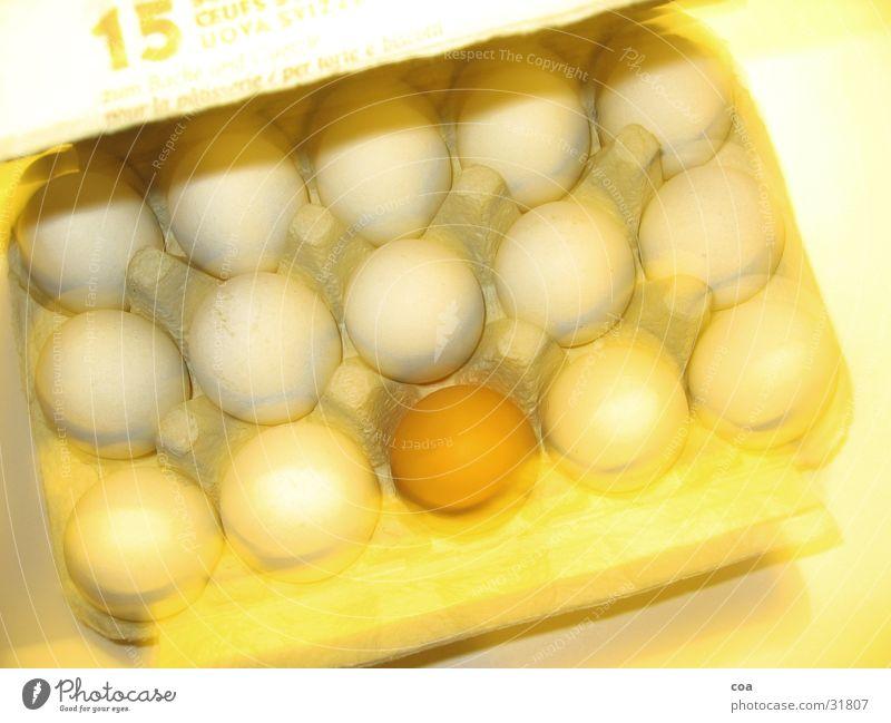 15 Eier gelb Bewegung braun Ei Vorsicht zerbrechlich 15 Außenseiter