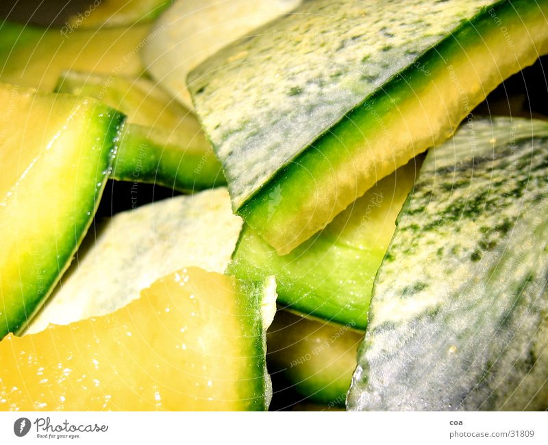 Melone grün gelb Gesundheit frisch Schalen & Schüsseln Farbverlauf