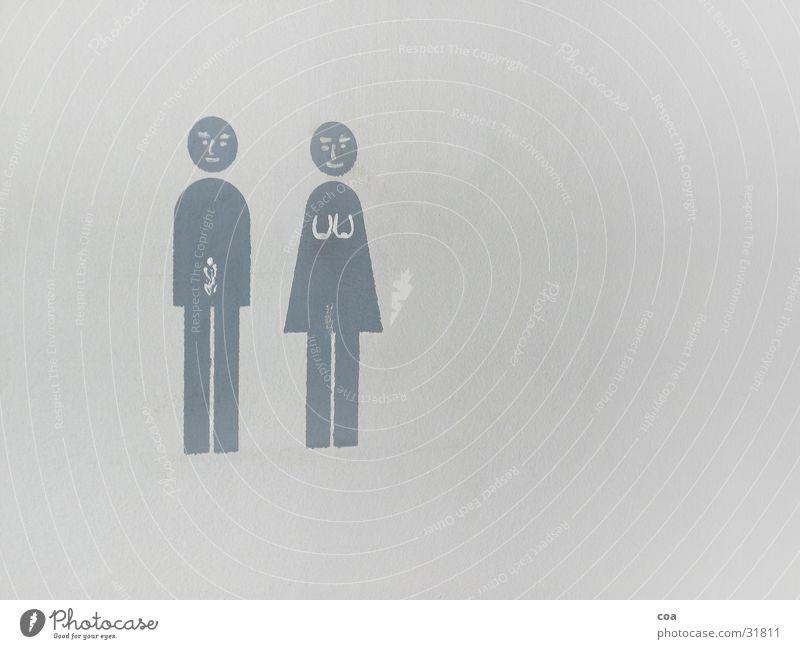 kinder, kinder.. Frau Mann weiß Wand grau Toilette Dienstleistungsgewerbe Beschriftung