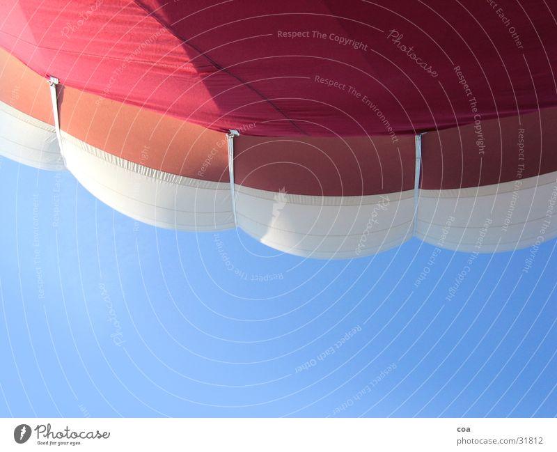 Ballonhülle Himmel weiß blau rot Luftverkehr Stoff Ballone Hülle
