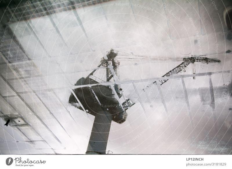 TransFormer grau Arbeit & Erwerbstätigkeit Technik & Technologie verrückt groß Wandel & Veränderung bedrohlich Baustelle bauen Gewicht Kran Maschine rebellisch