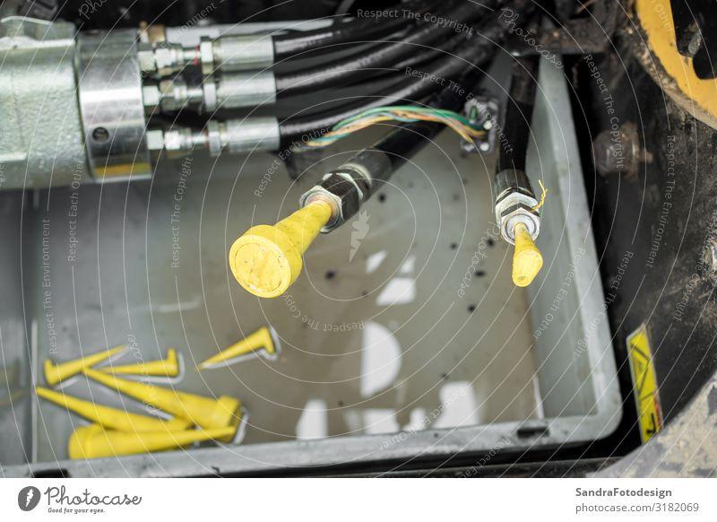 Repair and parts of a compact loader Arbeitsplatz Dienstleistungsgewerbe Maschine Technik & Technologie Autofahren Arbeit & Erwerbstätigkeit bauen Kraft repair