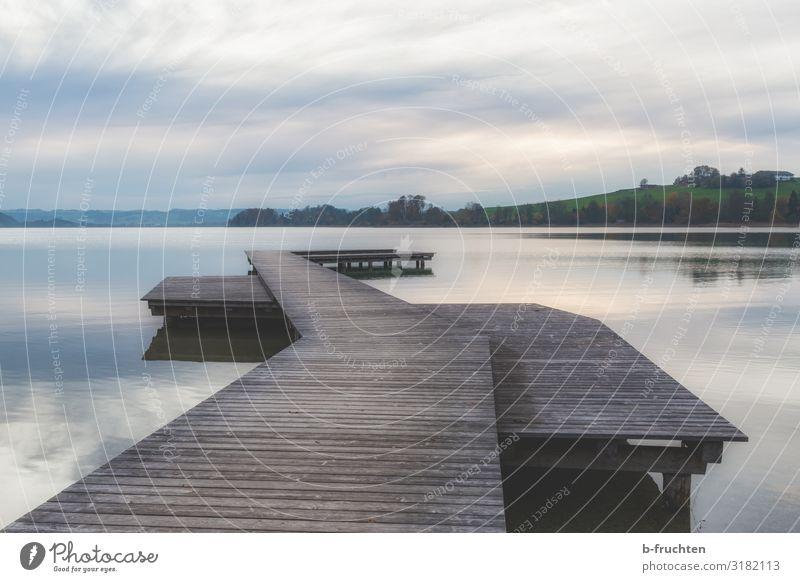 Herbststimmung am Mattsee, Österreich harmonisch ruhig Meditation Ferien & Urlaub & Reisen Tourismus Umwelt Natur Landschaft Himmel Wolken Wald Seeufer