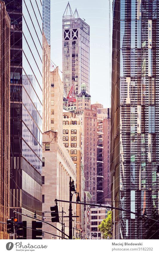 New York City vielfältige Architektur bei Sonnenuntergang. Lifestyle kaufen Reichtum Ferien & Urlaub & Reisen Sightseeing Städtereise Häusliches Leben Wohnung