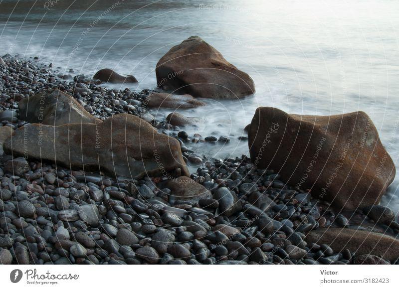 Küstenlandschaft. Naturdenkmal Las Playas. Valverde. El Hierro. Kanarische Inseln. Spanien. Landschaft Felsen Meer Stein natürlich wild Farbe Atlantik Biosphäre