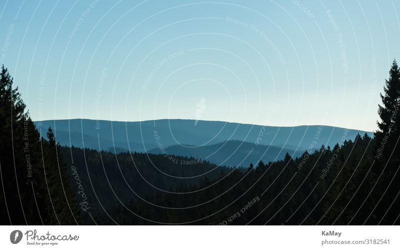 Oberharz Ferien & Urlaub & Reisen Ferne Berge u. Gebirge Natur Landschaft Himmel Herbst Baum Wald Harz Niedersachsen Deutschland Europa ästhetisch dunkel blau