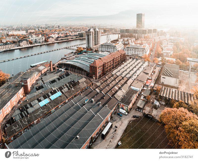 Blick in Richtung Treptow/Berlin Ferien & Urlaub & Reisen Tourismus Ausflug Ferne Freiheit Sightseeing Städtereise Bauwerk Gebäude Architektur Sehenswürdigkeit
