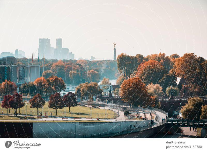 Herbst in Berlin mit Sicht auf das Regierungsviertel Ferien & Urlaub & Reisen Tourismus Ausflug Abenteuer Sightseeing Städtereise Umwelt Schönes Wetter Park