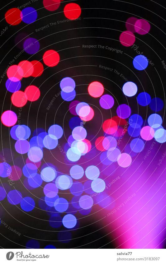 Lichtkugeln Nachtleben Entertainment Party Club Disco Karneval Silvester u. Neujahr Lichtermeer Kugel rund Lichteffekt blau violett rot schwarz Kunst Kontrast