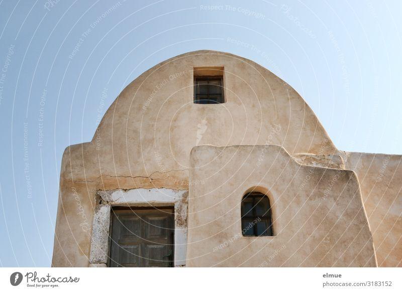 Wohnen Ferien & Urlaub & Reisen Griechenland Santorin Dorf Einfamilienhaus Traumhaus Gebäude Architektur Fassade authentisch einfach historisch einzigartig