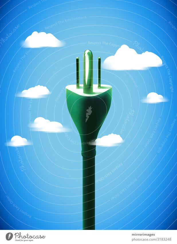 3 Zinken amerikanische Energie in Himmelswolken, Internet der Dinge Computer Kabel Werkzeug Technik & Technologie Energiewirtschaft Erneuerbare Energie fliegen