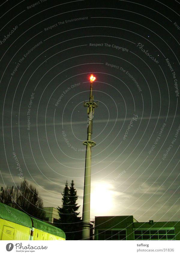 Sendemast Telekommunikation Mond Strommast Funktechnik Sender Deutsche Telekom Richtfunk