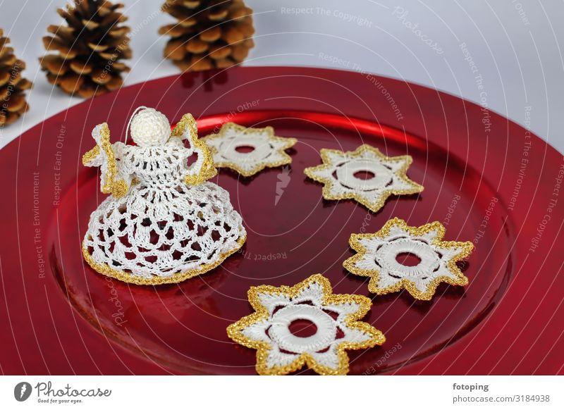 Häkelengelchen Dekoration & Verzierung Weihnachten & Advent Engel Stimmung Religion & Glaube Baumschmuck Häkelstern Häkelsternchen Stern (Symbol)