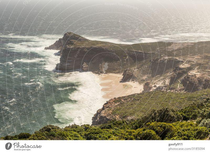 Das Kap der guten Hoffnung Ferien & Urlaub & Reisen Natur Wasser Landschaft Meer Ferne Strand Umwelt Küste Tourismus Freiheit Felsen Ausflug wild Horizont