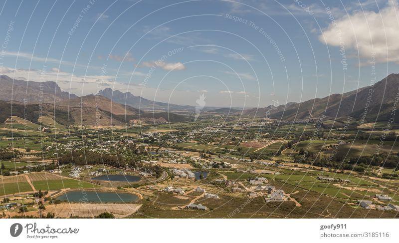 Franschhoek Südafrika Ferien & Urlaub & Reisen Tourismus Ausflug Abenteuer Ferne Freiheit Sightseeing Expedition Berge u. Gebirge Umwelt Natur Landschaft Himmel