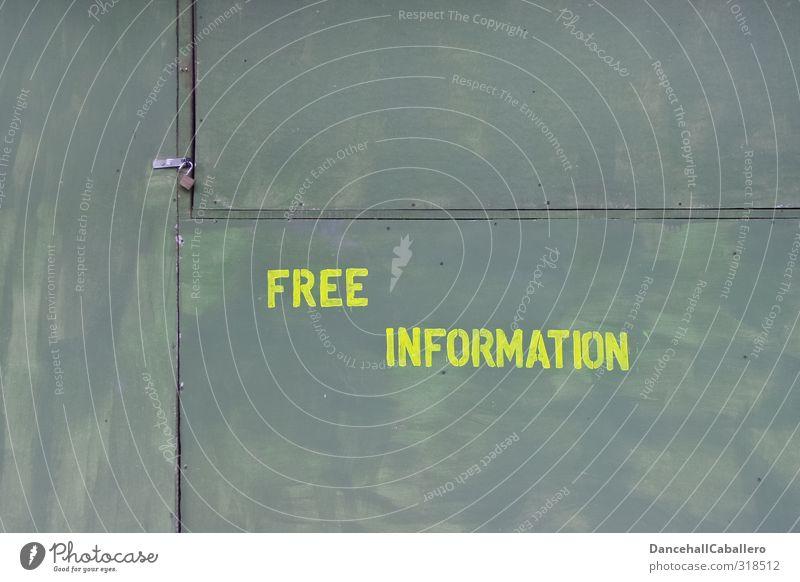 Wand mit Aufschrift kostenlose Information Bildung Schule Dienstleistungsgewerbe Callcenter Unternehmen Beratung lernen Interesse Informationsaustausch