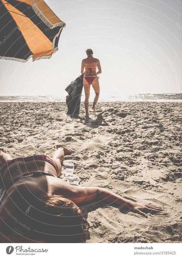 Am Strand Lifestyle Wellness Leben harmonisch Wohlgefühl Zufriedenheit Sinnesorgane Erholung ruhig Meditation Ferien & Urlaub & Reisen Tourismus Ausflug Ferne