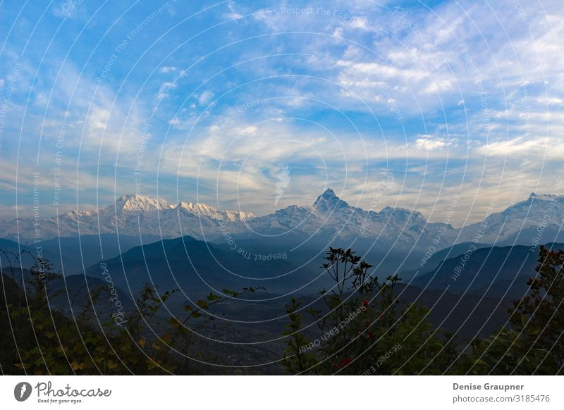 View of the Himalayas in Nepal Ferien & Urlaub & Reisen wandern Umwelt Natur Landschaft Klima Schönes Wetter scenery landscape mountain himalaya colorful view