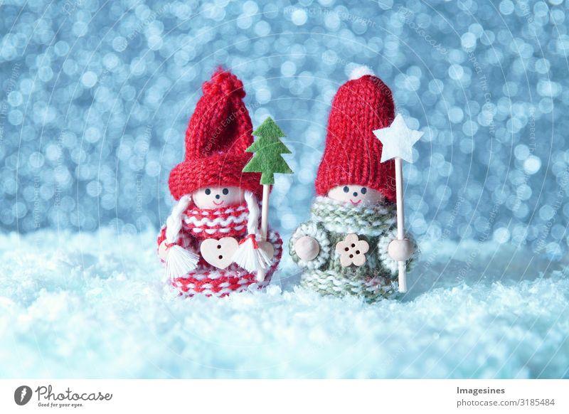"""Schneekinder Puppen Weihnachten Weihnachten & Advent Spielzeug Weihnachtsmann Weihnachtsengel Weihnachtsdekoration kalt Stimmung """"Schneemann spielzeug,Winter"""
