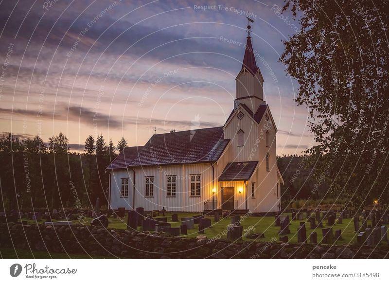 schlaflos durch norwegen Himmel Natur Landschaft Religion & Glaube Stimmung Kirche Frieden Norwegen Erfahrung Stabkirche