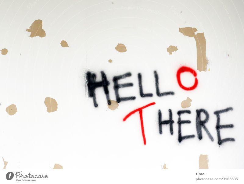 doublebind Mauer Wand Dekoration & Verzierung Farbe Stein Zeichen Schriftzeichen Schilder & Markierungen Graffiti selbstbewußt Leben Neugier Nervosität Respekt