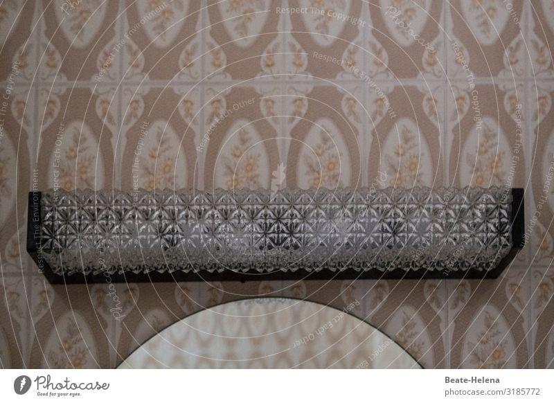Retro-Badezimmer Häusliches Leben Innenarchitektur Dekoration & Verzierung Lampe Spiegel Fliesen u. Kacheln Ornament alt wählen kaufen glänzend ästhetisch