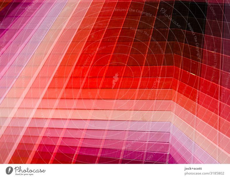 Ton trifft Gerade Design Grafik u. Illustration Mauer Wand Dekoration & Verzierung Sammlung Holz Linie Streifen Netzwerk Oberfläche außergewöhnlich eckig