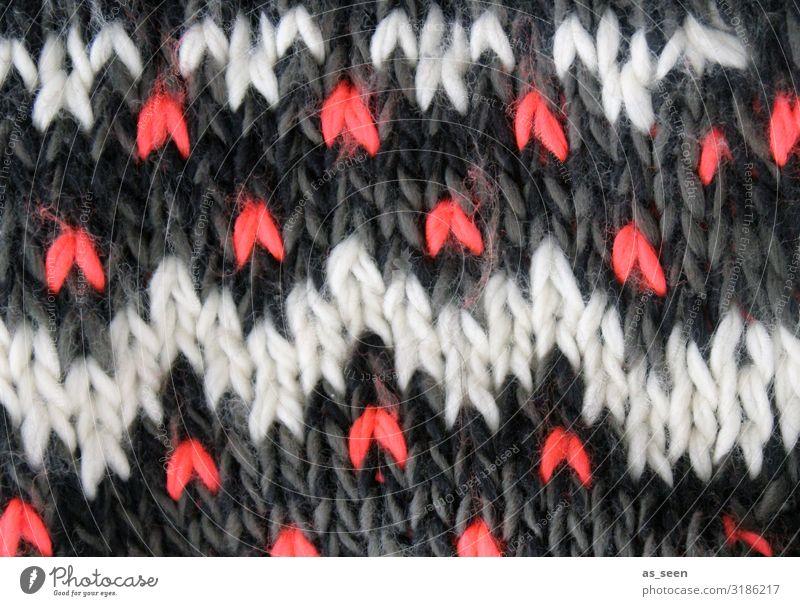 Strickmuster Lifestyle Freizeit & Hobby Handarbeit stricken Herbst Winter Klima Eis Frost Schnee Mode Pullover Schal Mütze Dekoration & Verzierung Wolle