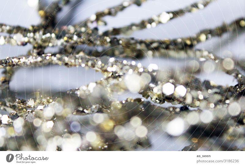 Glitzer Weihnachten & Advent weiß Freude Lifestyle Leben Feste & Feiern Party Mode Design Dekoration & Verzierung hell leuchten modern gold glänzend elegant