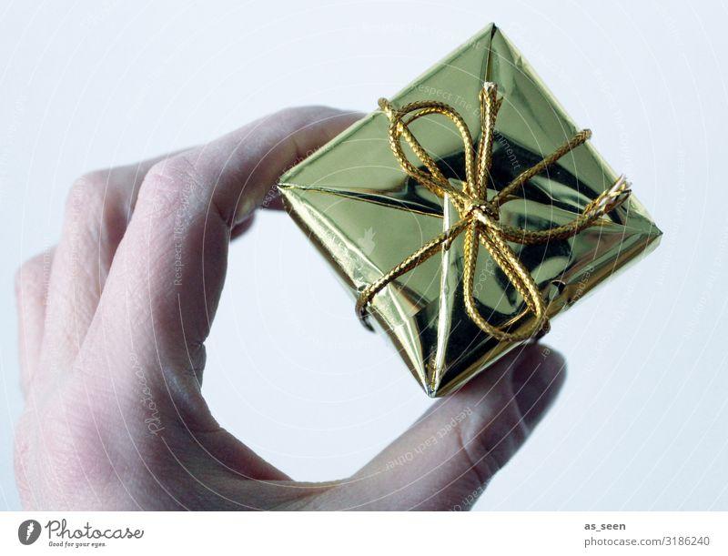 Geschenk für dich Lifestyle Reichtum elegant Stil Design Weihnachten & Advent Geburtstag Hand Finger Verpackung Dekoration & Verzierung Schleife Kitsch