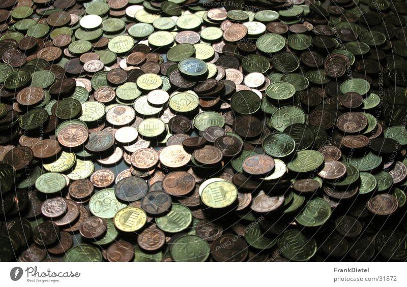 Money, Money Cent Geldmünzen Reichtum Geldhaufen Euro Nahaufnahme
