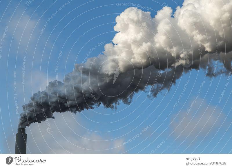 Prima Klima Reichtum Fortschritt Zukunft Energiewirtschaft Erneuerbare Energie Kohlekraftwerk Energiekrise Industrie Umwelt Himmel Rauchen bedrohlich