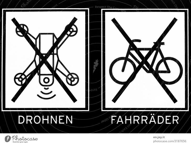 VERBOTEN Schriftzeichen Fahrrad Schilder & Markierungen Hinweisschild Zeichen Schutz Kontrolle Aggression Verbote Überwachung Warnschild Ikon Verbotsschild