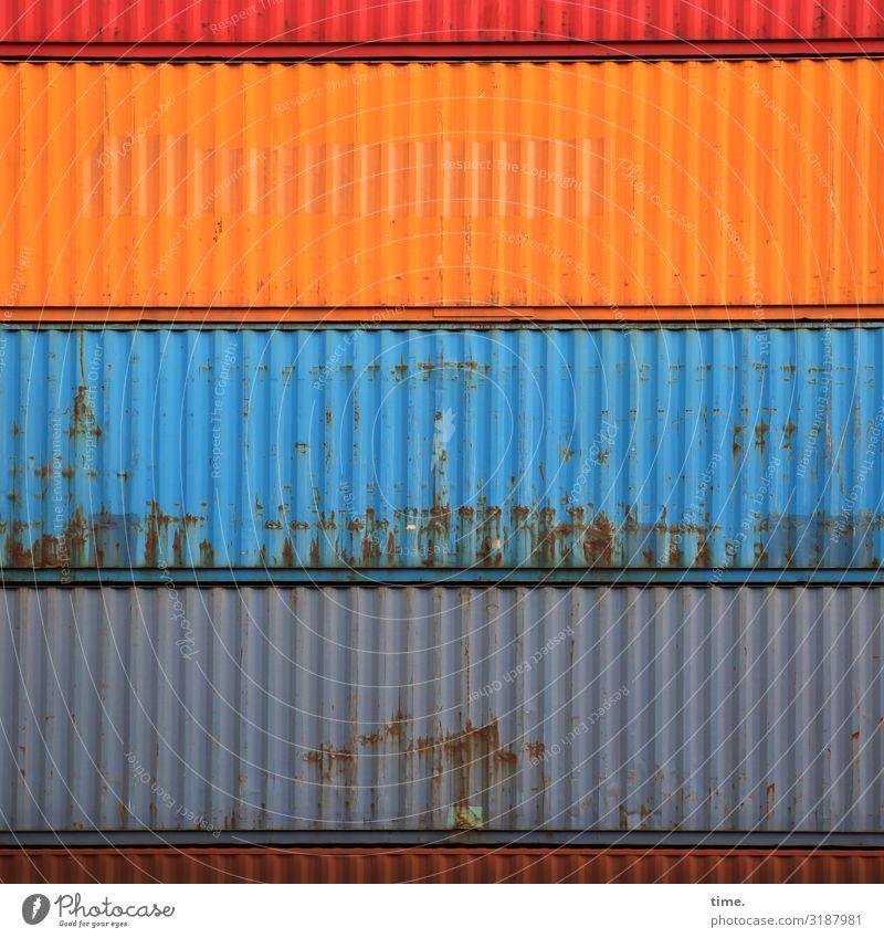 Schichtwechsel Stadt Linie Metall Kommunizieren Kraft einzigartig Vergänglichkeit Neugier entdecken Macht Güterverkehr & Logistik Streifen Niveau Zusammenhalt
